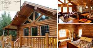 amazing log home wrap around deck with must see interior and plan